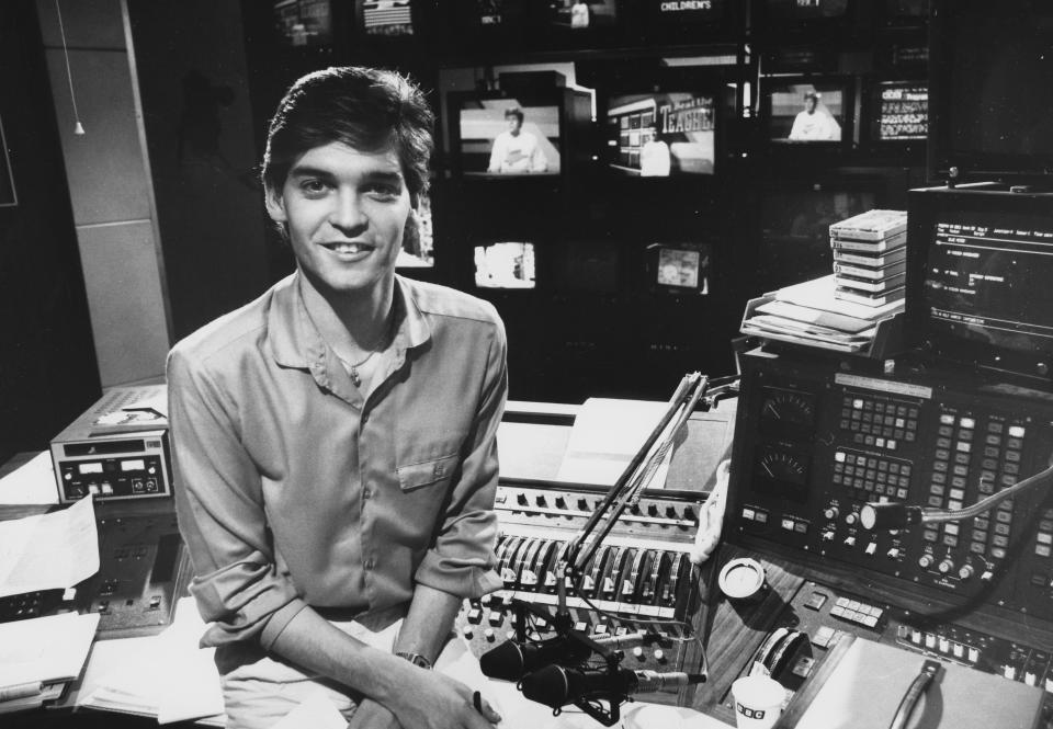 Phillip Schofield pictured in 1985 as a presenter on Children's BBC. (Photo by Don Smith/Radio Times/Getty Images)