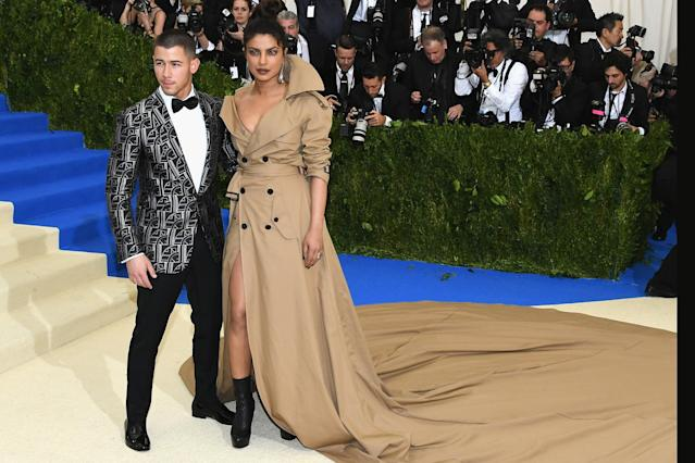 Nick Jonas and Priyanka Chopra at the 2017 Met Gala. (Photo: Getty Images).
