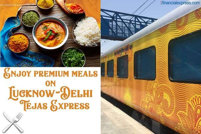 Tejas Express menu card, Tejas Express food menu, Tejas Express meals