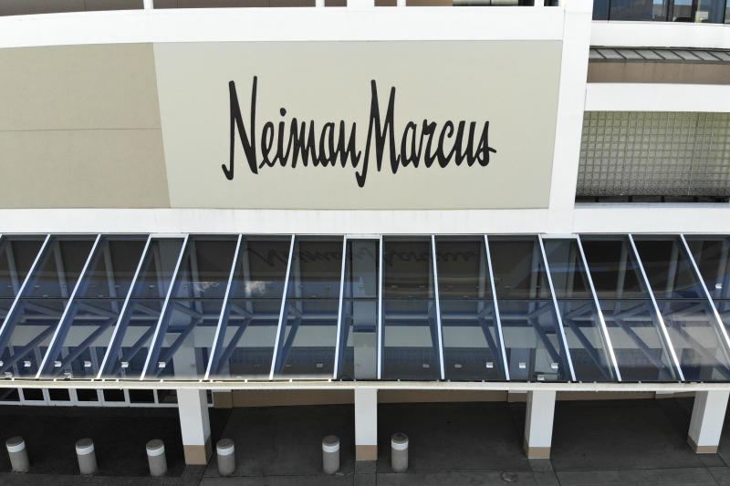 A closed Neiman Marcus store is seen at the Garden State Plaza mall in Paramus, N.J., Thursday, May 7, 2020. Neiman Marcus filed for Chapter 11 bankruptcy protection, sounding an ominous note for department stores during the coronavirus pandemic. (AP Photo/Seth Wenig)