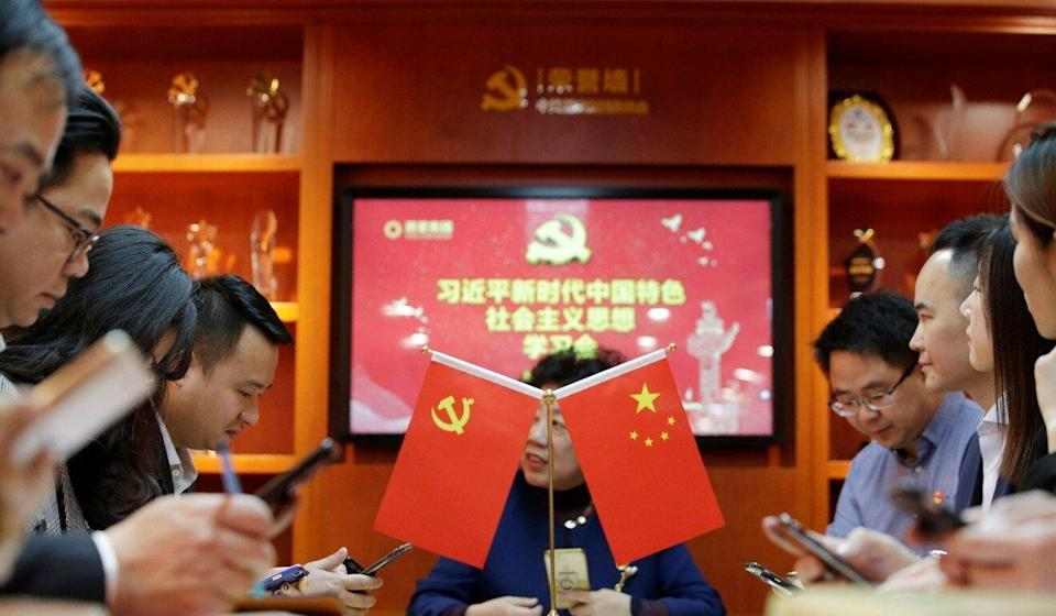 Party members are expected to study Xi's speeches and submit reports to their bosses. Photo: Reuters