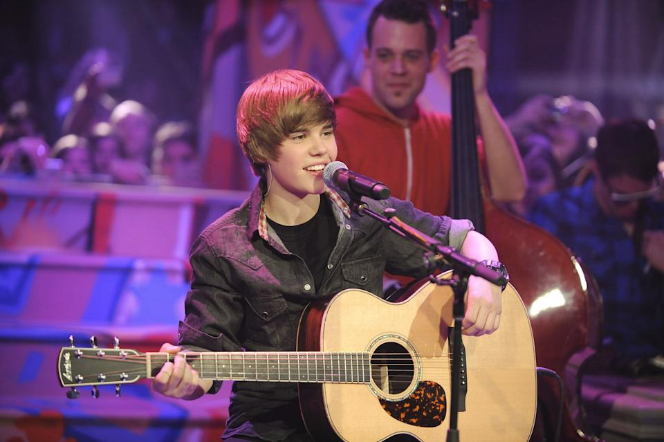 Remember this? A young Justin Bieber performs on Live@Much at the MuchMusic HQ on December 22, 2009 in Toronto. (Photo: George Pimentel via Getty Images)
