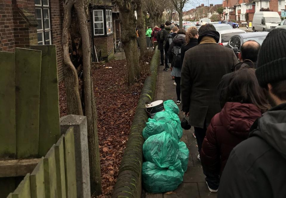 Voters reported unprecedented queues at polling stations (Picture: Alixe Bovey/Twitter)