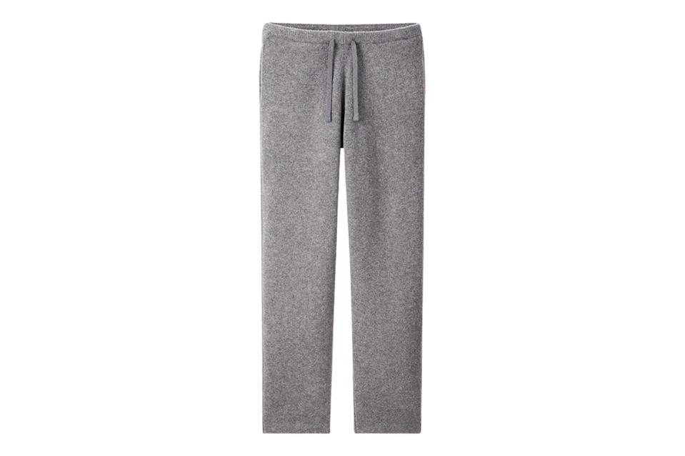 "$50, Uniqlo. <a href=""https://www.uniqlo.com/us/en/men-souffle-yarn-relaxed-pants-jw-anderson-435456.html?dwvar_435456_color=COL06&cgid=men-jw-anderson#start=1&cgid=men-jw-anderson"" rel=""nofollow noopener"" target=""_blank"" data-ylk=""slk:Get it now!"" class=""link rapid-noclick-resp"">Get it now!</a>"
