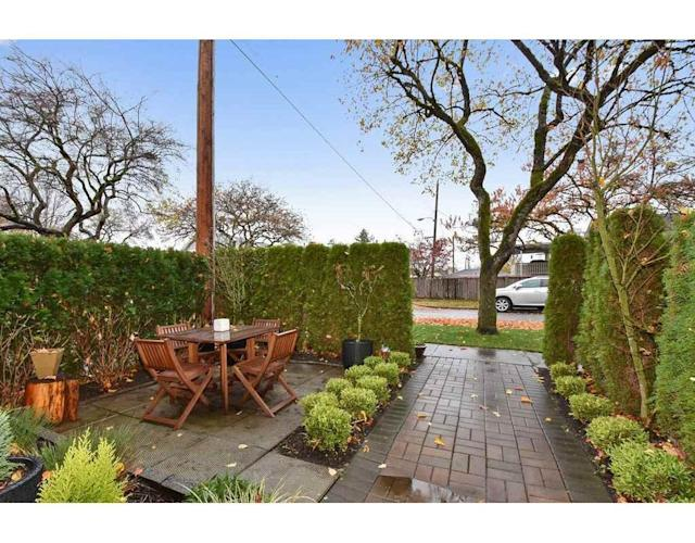 <p><span>1378 East 27th Ave., Vancouver, B.C.</span><br> You can even enjoy the great outdoors on your private patio and porch.<br> (Photo: Zoocasa) </p>