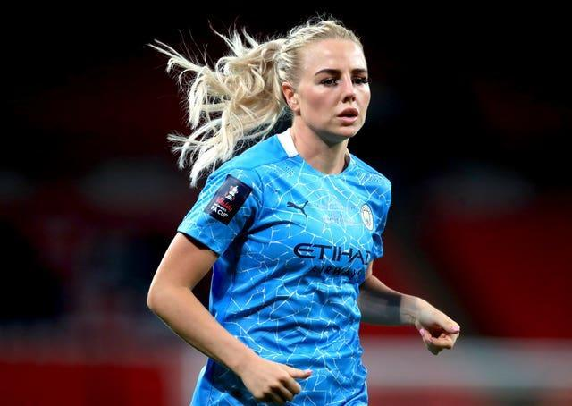 Alex Greenwood says online hatred is something she has experienced (Adam Davy/PA).