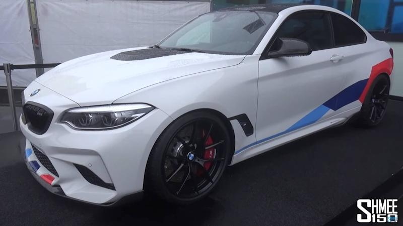 bmw m2 competition with m performance parts detailed on video. Black Bedroom Furniture Sets. Home Design Ideas