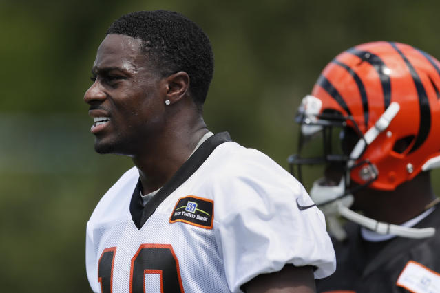"<a class=""link rapid-noclick-resp"" href=""/nfl/players/24791/"" data-ylk=""slk:A.J. Green"">A.J. Green</a>, the Bengals' top wideout, had eight touchdown receptions last season. (AP)"
