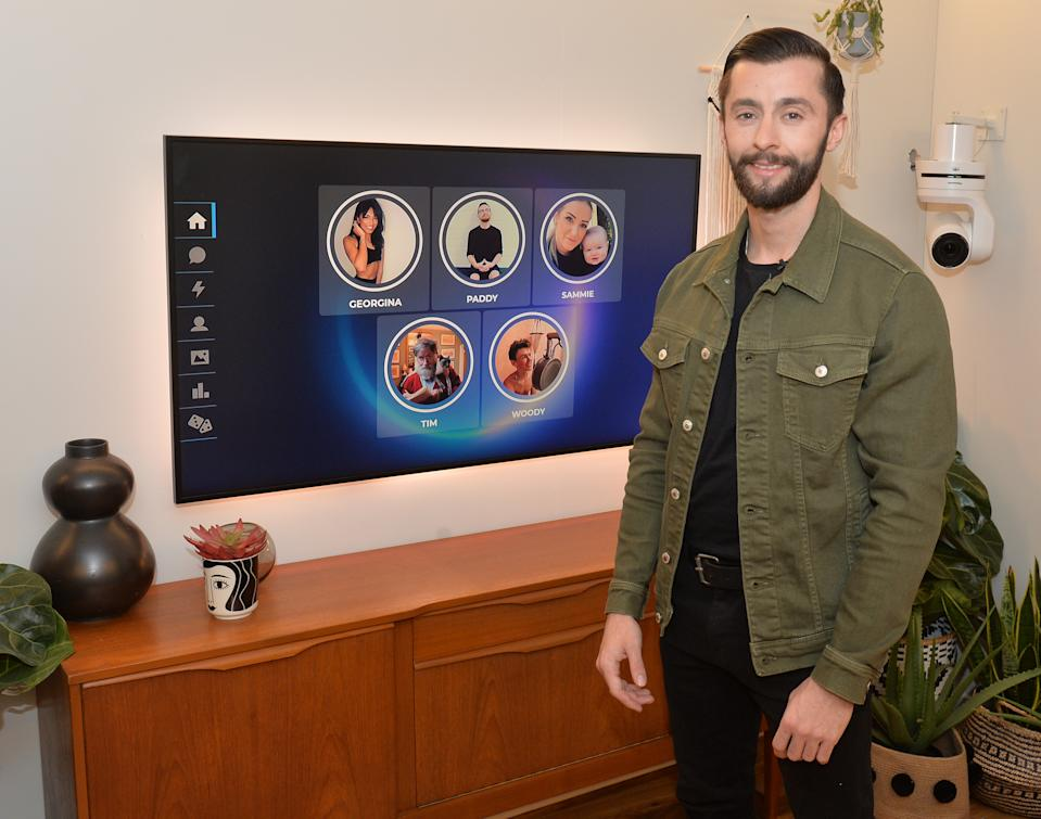 James Doran, 26, from Liverpool, who played as single mother 'Sammie',in his apartment at The Circle in Salford, Manchester, ahead of the live final of the second series of Channel 4's The Circle. (Photo by Peter Powell/PA Images via Getty Images)