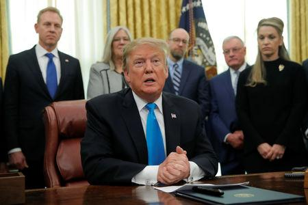 U.S. President Trump participates in Space Force signing ceremony at the White House in Washington