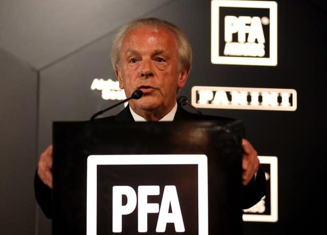 Professional Footballers' Association chief executive Gordon Taylor is optimistic of a restart (Steven Paston/PA)