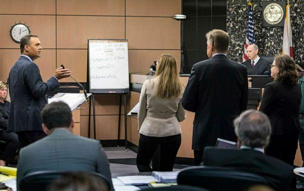 PHOTO: William Burck, left, one of during New England Patriots owner Robert Kraft's attorneys, speaks during a hearing in Kraft's prostitution solicitation case, April 12, 2019, in West Palm Beach, Fla. (Lannis Waters/Palm Beach Post via AP, FILE)