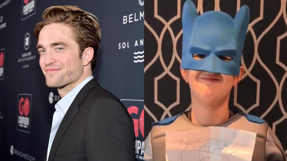 Robert Pattinson surprised 10-year-old Batman superfan James. (Credit: Stefanie Keenan/Getty/Radio City)