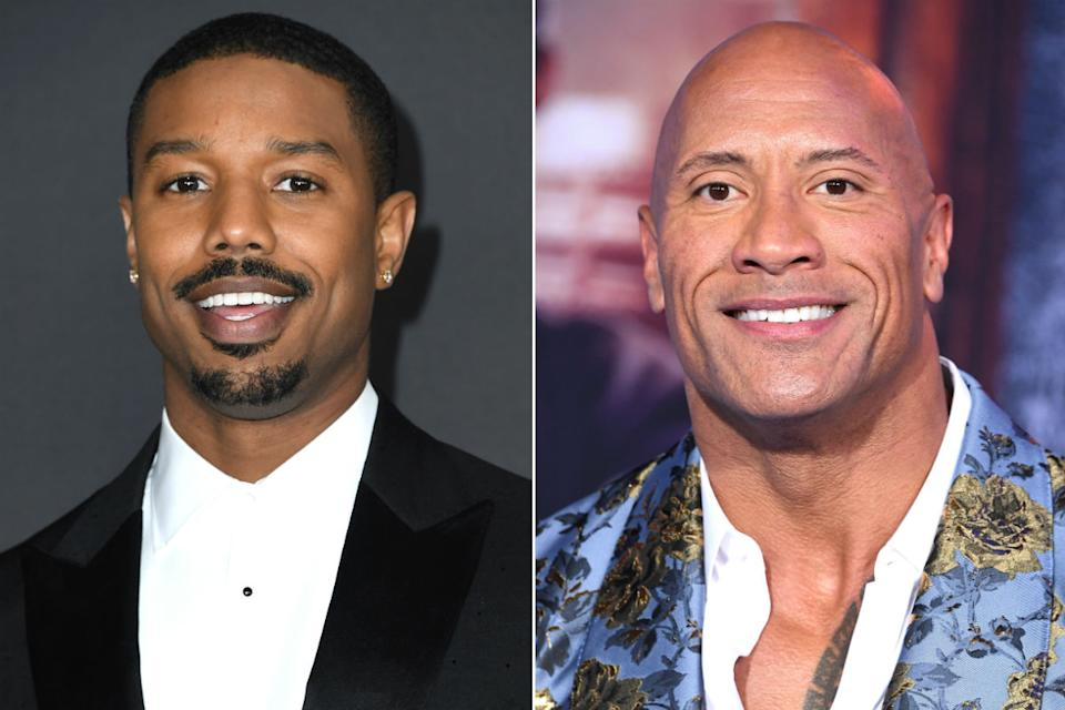 Michael B. Jordan and Dwayne Johnson (Credit: Getty)