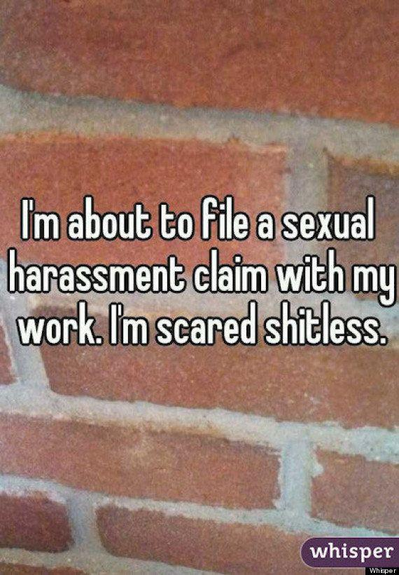 """When it comes to sexual harassment in the workplace many picture the blatant sexism of the """"Mad Men"""" era, however, workplace harassment (sadly) comes in all forms. From an unwelcome sexual comment to inappropriate physical touching, sexual harassment should be reported every time, <a href=""""http://www.huffingtonpost.com/2013/08/27/workplace-sexual-harassment-poll_n_3823671.html"""" target=""""_blank"""">yet it's not always so easy for victims to speak up</a>. With allegations of sexual assault spanning various workplaces -- including (but not limited to)<a href=""""http://www.huffingtonpost.com/2014/06/17/terry-richardson-sexual-harassment-anna-del-gaizo_n_5501175.html"""" target=""""_blank""""> the fashion industry</a> and<a href=""""http://www.huffingtonpost.com/2014/07/03/tinder-whitney-wolfe-sexual-harassment-lawsuit_n_5555660.html?utm_hp_ref=technology&ir=Technology"""" target=""""_blank""""> tech startups </a>-- it's no surprise that workplace harassment is still common, even when it's not making front page news. In 2011, the U.S. Equal Employment Opportunity Commission <a href=""""http://www.aauw.org/what-we-do/legal-resources/know-your-rights-at-work/workplace-sexual-harassment/"""" target=""""_blank"""">received 11,364 complaints of sexual harassment</a>, 84 percent of which were filed by women and 16 percent by men. <a href=""""http://www.aauw.org/what-we-do/legal-resources/know-your-rights-at-work/workplace-sexual-harassment/"""" target=""""_blank"""">The American Association of University Women also reported that a telephone poll of 782 U.S. workers revealed </a>that of the 38 percent of workers who said they had been sexually harassed, less than half reported their harassment. <strong>Inspired by our friends over at <a href=""""http://jezebel.com/women-post-awful-tales-of-workplace-harassment-on-secre-1601929462"""" target=""""_blank"""">Jezebel</a>, we rounded up 11 testimonies found on the anonymous message-sharing app <a href=""""http://whisper.sh/stories/"""" target=""""_blank"""">Whisper</a> that speak to the bravery required to"""