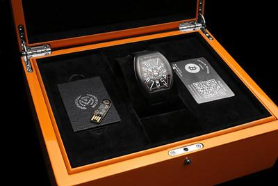 The Encrypto watch comes in a beautiful box which includes a USB key