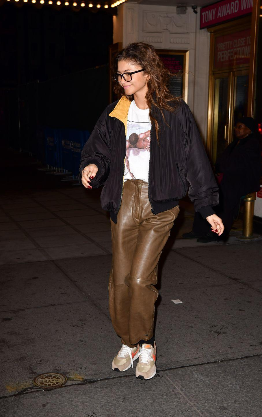 <p>Behold: the ultimate winter outfit hack for people who HATE being cold. The secret's all in the pants – go for a faux leather trouser over jeans. The thick fabric will keep away the wind chill and, let's face it, it looks crazy chic. <br></p>