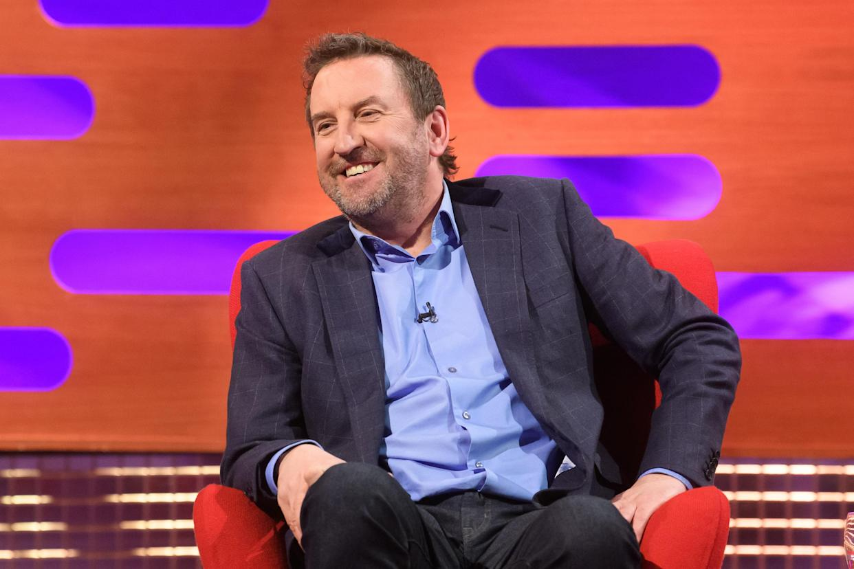 EDITORIAL USE ONLY Lee Mack during the filming for the Graham Norton Show at BBC Studioworks 6 Television Centre, Wood Lane, London, to be aired on BBC One on Friday evening.