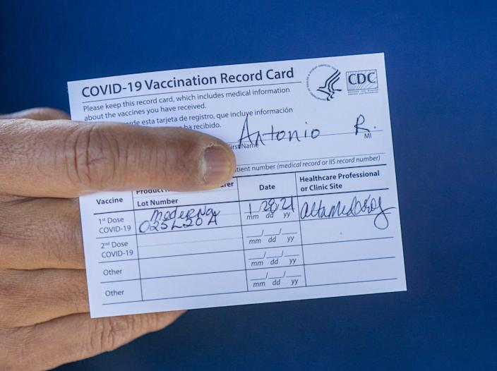This Vaccination Record Card from the CDC is the only proof of vaccination most Americans have after getting their COVID-19 shots.