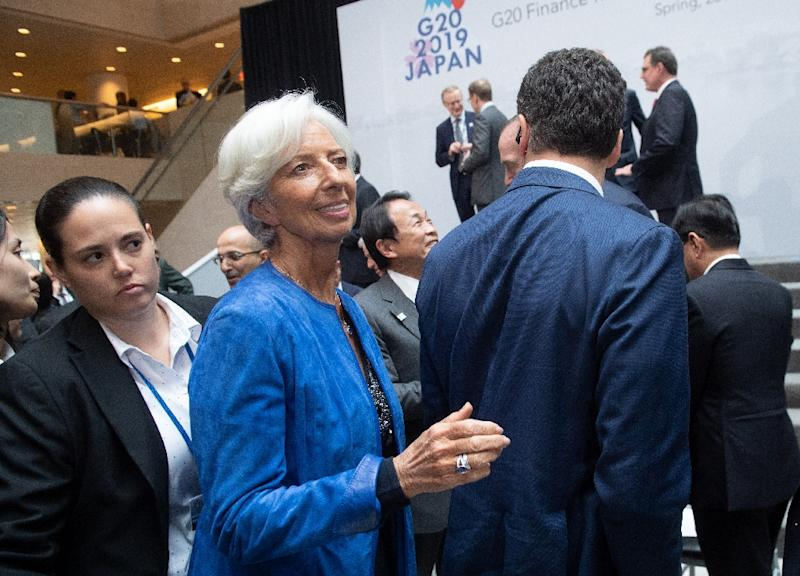 IMF Managing Director Christine Lagarde's (pictured April 12, 2019) remarks come as some central bankers around the world face increased pressure to bend to the objectives of political leaders and heads of state (AFP Photo/SAUL LOEB)