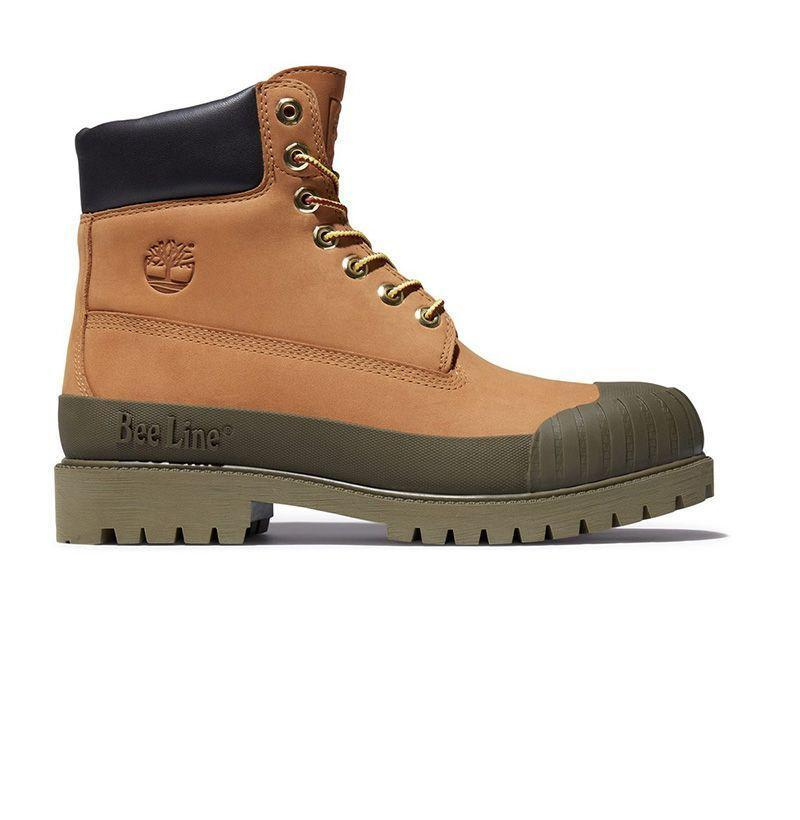 """<p><strong>TIMBERLAND</strong></p><p>bbcicecream.com</p><p><strong>$220.00</strong></p><p><a href=""""https://www.bbcicecream.com/collections/beeline-timberland/products/timberland-rubber-toe-olive-nov"""" rel=""""nofollow noopener"""" target=""""_blank"""" data-ylk=""""slk:Shop Now"""" class=""""link rapid-noclick-resp"""">Shop Now</a></p>"""
