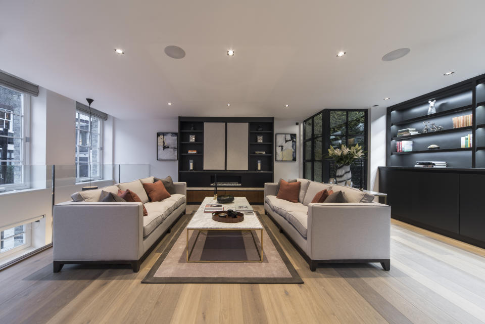Formal reception room at Oldbury Place. Photo: Aston Chase