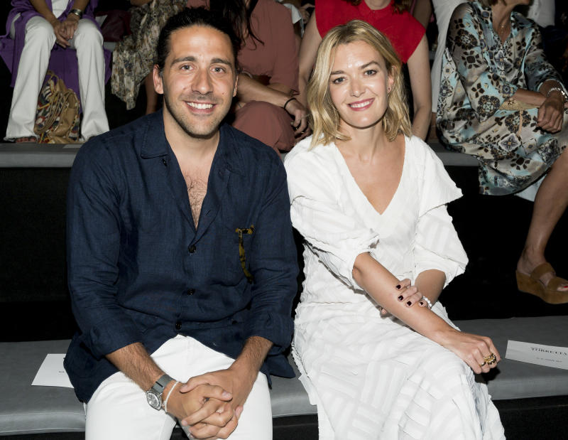 MADRID, SPAIN - JULY 08: Carlos Torretta and Marta Ortega attend Roberto Torretta fashion show during the Mercedes Benz Fashion Week Spring/Summer 2020 on July 08, 2019 in Madrid, Spain. (Photo by Giovanni Sanvido/Getty Images)