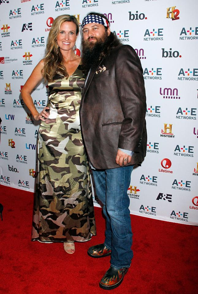 NEW YORK, NY - MAY 08:  Jep Robertson and Jessica Robertson attend A&E Networks 2013 Upfront at Lincoln Center on May 8, 2013 in New York City.  (Photo by Laura Cavanaugh/Getty Images)