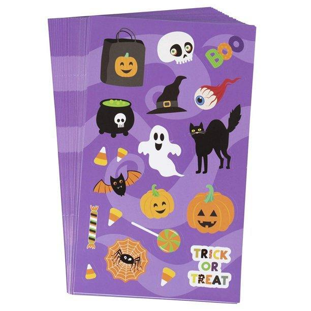 Juvale Halloween Pumpkin Stickers for Party Favors