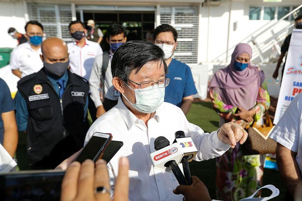 Penang Chief Minister Chow Kon Yeow said the next challenge for the state was to achieve the indicators to move into Phase Three of the NRP. — Picture by Sayuti Zainudin