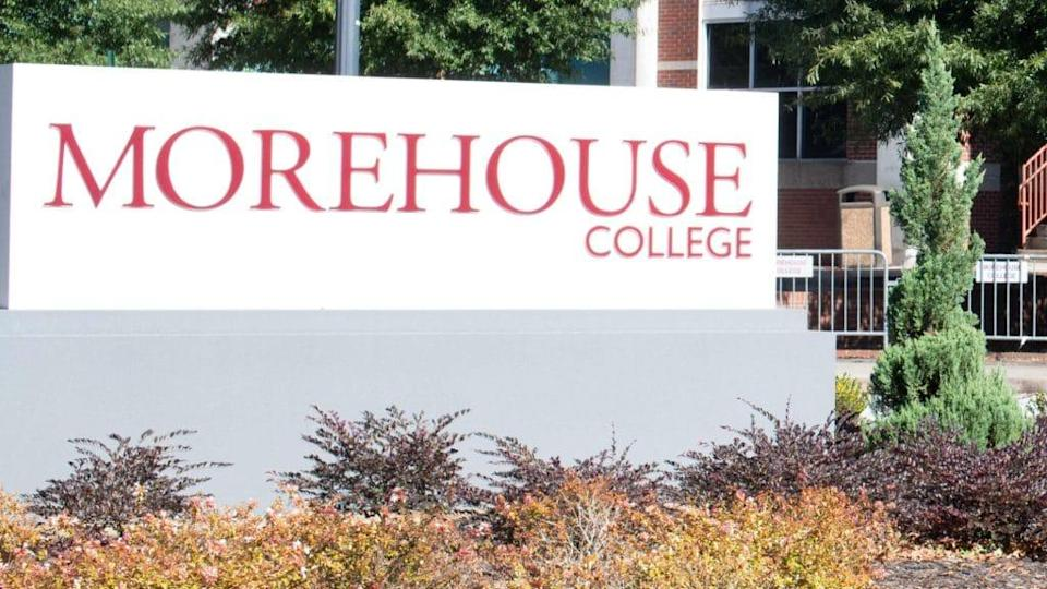 A sign is shown at Morehouse College, one of the three of the historically-Black schools that make up the Atlanta University Center Consortium requiring students to be vaccinated against COVID-19 to attend in-person classes this fall. (Photo by Marcus Ingram/Getty Images for ALL IN: The Fight for Democracy)