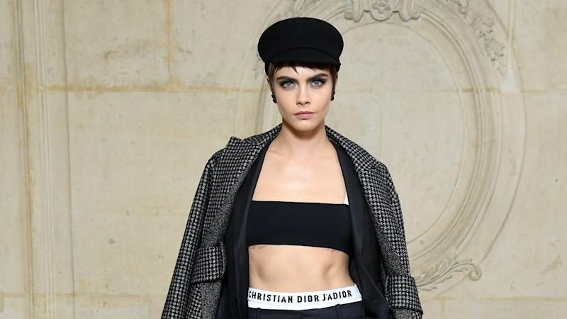 b1549a41edc3 Cara Delevingne Leads the Pack of Stylish Celebs Sitting Front Row at Paris  Fashion Week
