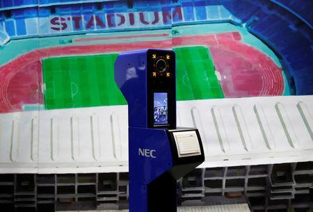 The face recognition system for Tokyo 2020 Olympics and Paralympics, which is developed by NEC corp, is seen at its unveiling in Tokyo, Japan August 7, 2018. REUTERS/Toru Hanai