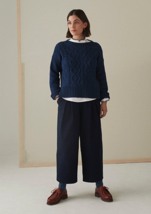 "<br><br><strong>Toast</strong> Indigo Cotton Sweater, $, available at <a href=""https://www.toa.st/uk/product/womens+knitwear/canbc/indigo+cotton+gansey+sweater.htm"" rel=""nofollow noopener"" target=""_blank"" data-ylk=""slk:Toast"" class=""link rapid-noclick-resp"">Toast</a>"