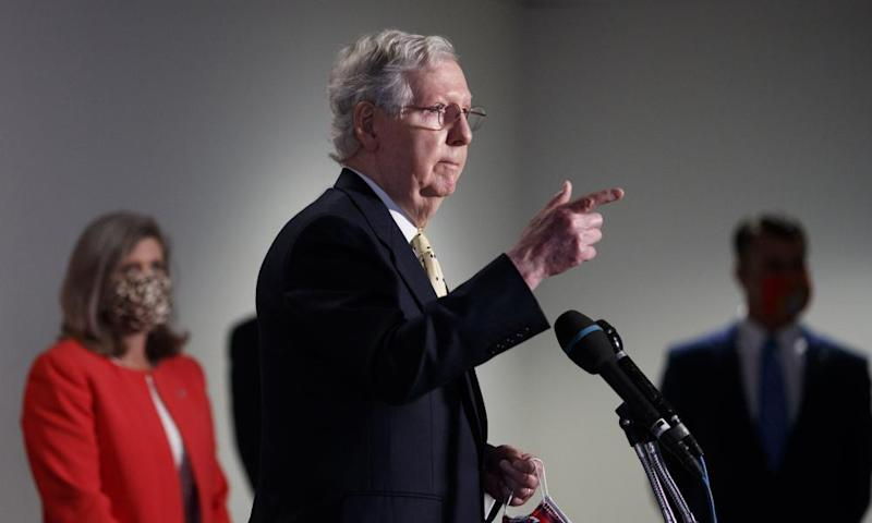 Mitch McConnell's stimulus package is worth around $1tn, compared to the $3tn proposed by House Democrats.