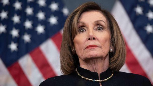 PHOTO: In this file photo taken on Dec. 18, 2019, Speaker of the House Nancy Pelosi holds a press conference after the House passed articles of impeachment against President Donald Trump, at the U.S. Capitol in Washington, D.C. (Saul Loeb/AFP via Getty Images, File)