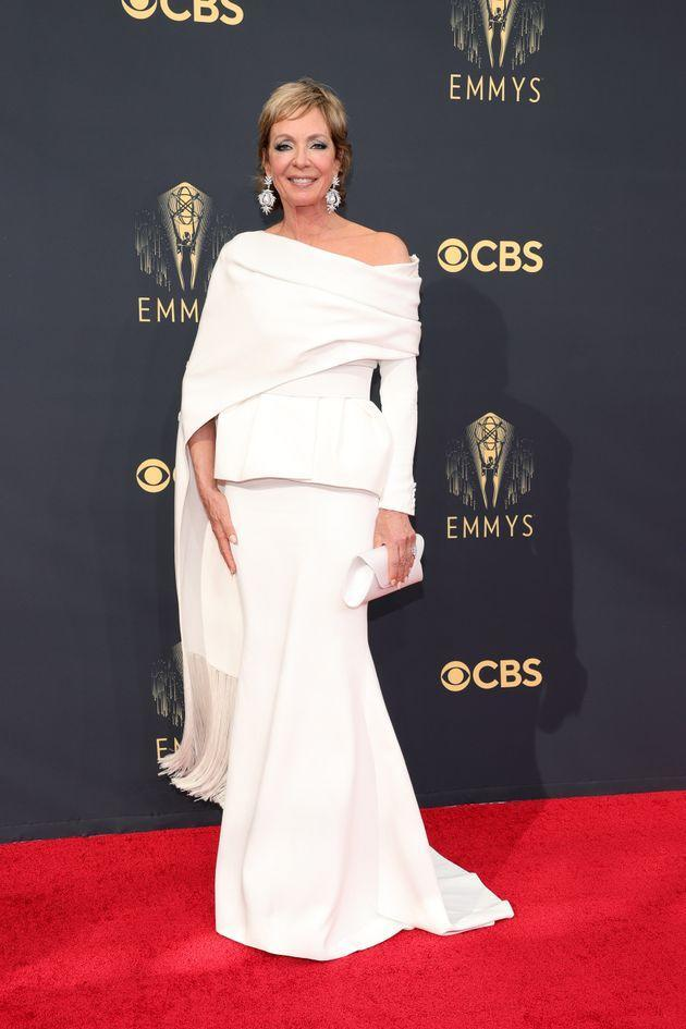 Allison Janney attends the 73rd Primetime Emmy Awards at L.A. Live on Sunday in Los Angeles. (Photo: Rich Fury/Getty Images)