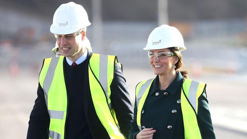 Kate Middleton and Prince William Put on Hard Hats and Neon Vests to Visit Construction Site