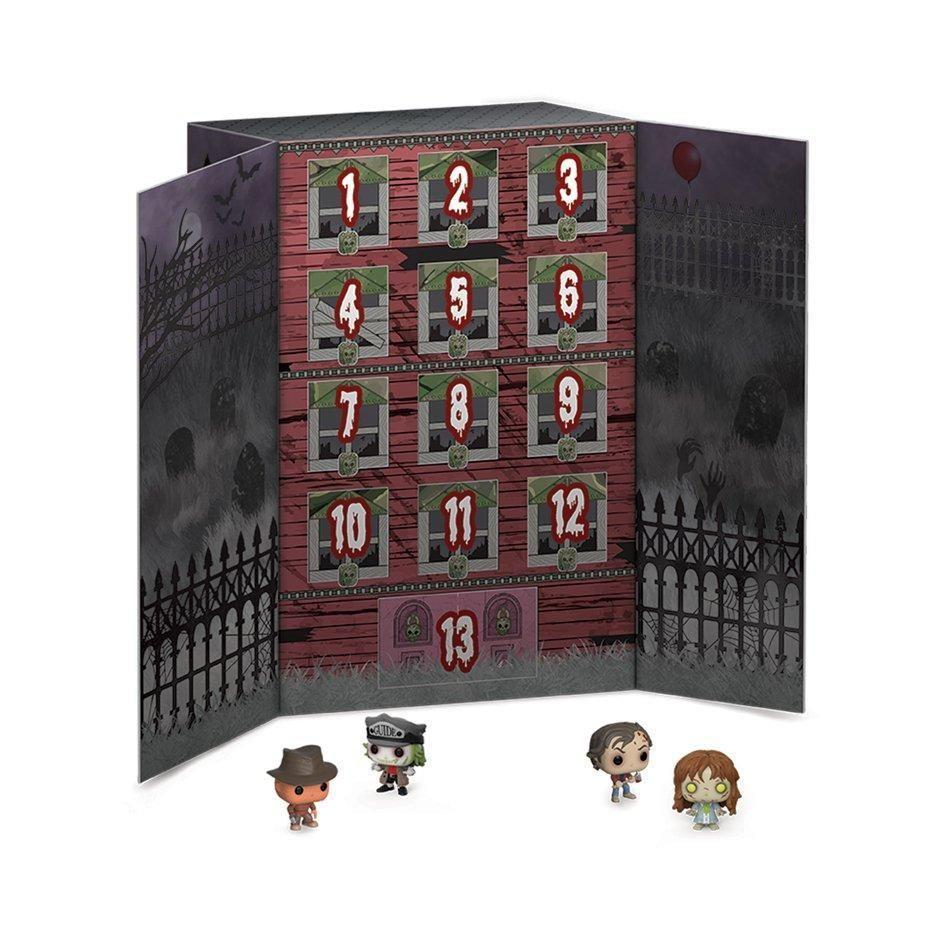 """<p><strong>Funko, LLC</strong></p><p>gamestop.com</p><p><strong>$29.99</strong></p><p><a href=""""https://go.redirectingat.com?id=74968X1596630&url=https%3A%2F%2Fwww.gamestop.com%2Ftoys-collectibles%2Fcollectibles%2Fseasonal-items-novelty-gifts%2Fproducts%2Fpop-advent-calendar-13-day-spooky-countdown%2F210900.html&sref=https%3A%2F%2Fwww.cosmopolitan.com%2Flifestyle%2Fg32677747%2Fbest-halloween-advent-calendars%2F"""" rel=""""nofollow noopener"""" target=""""_blank"""" data-ylk=""""slk:Shop Now"""" class=""""link rapid-noclick-resp"""">Shop Now</a></p><p>For the patient Halloween fans, you can whip this one out 13 days before the big day. Behind each flap you'll find a new character, like Beetlejuice and Freddy Krueger.</p>"""