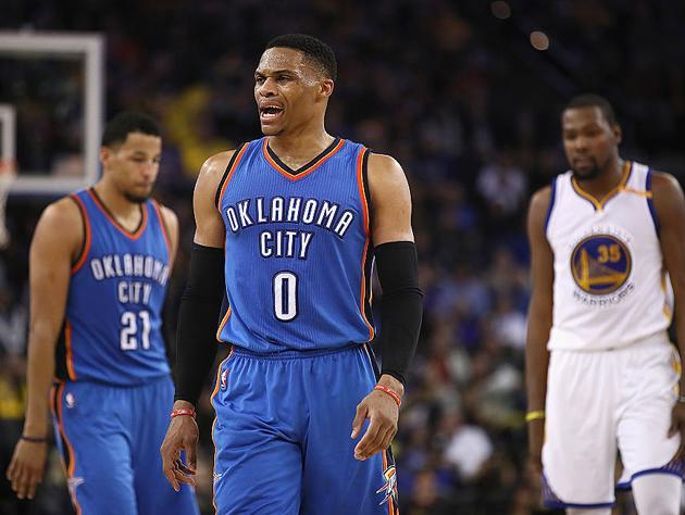 Russell Westbrook just wants the week to end. (Getty Images)