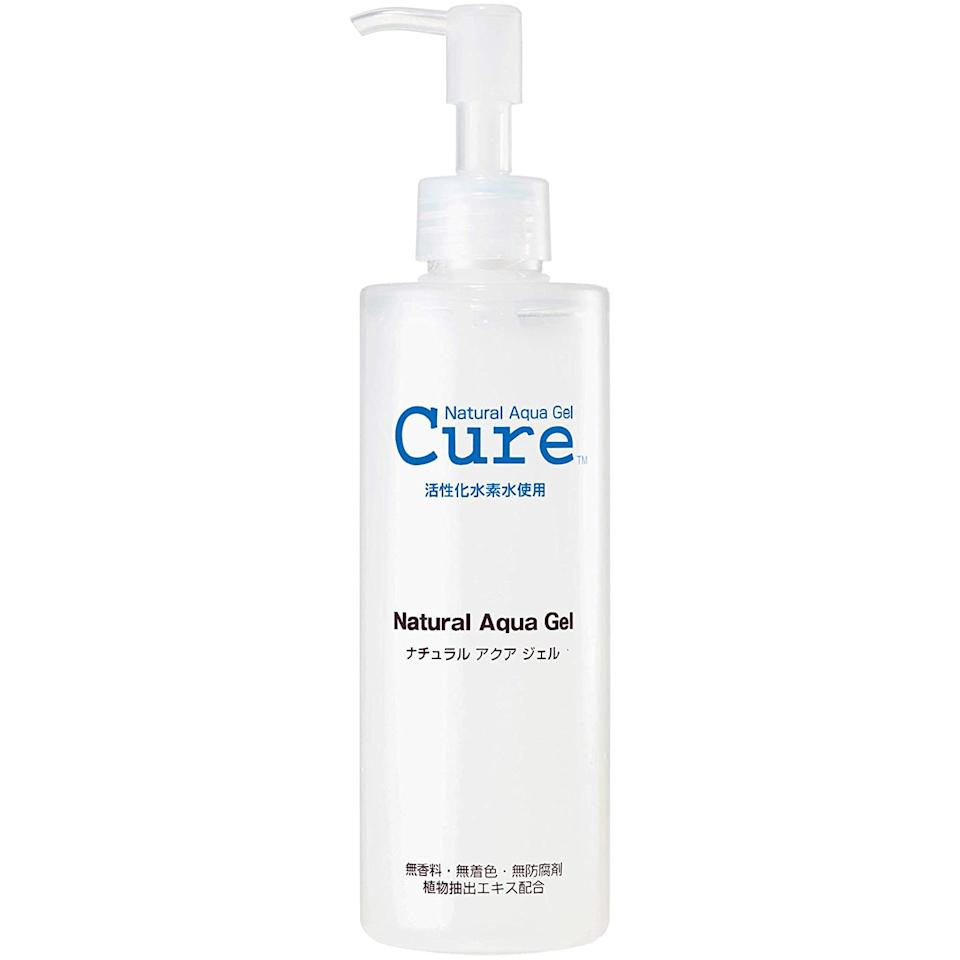"<h2>Cure Natural Aqua Gel Skin Exfoliator</h2><br>Another <a href=""https://www.refinery29.com/en-us/bestselling-amazon-viral-beauty-products-review#slide-6"" rel=""nofollow noopener"" target=""_blank"" data-ylk=""slk:tried-and-true hidden beauty star"" class=""link rapid-noclick-resp"">tried-and-true hidden beauty star</a> vetted by our very own Shopping-team product maven. Karina converted readers to carters of this J-beauty buy with her approved review on its exfoliating benefits — stating, ""Unlike other at-home chemical peels or exfoliating masks, I really love how this gel doesn't cause any tingling sensation — since, sometimes, that can be too intense for more sensitive skin. In the past, I've smuggled this stuff back in my suitcase after visiting family in Tokyo — but now, I'll take free Prime shipping over a 12-hour plane ride any day."" <br><br><em>Shop <strong><a href=""https://amzn.to/3i54Hog"" rel=""nofollow noopener"" target=""_blank"" data-ylk=""slk:Cure"" class=""link rapid-noclick-resp"">Cure</a></strong></em><br><br><strong>Cure</strong> Natural Aqua Gel, $, available at <a href=""https://amzn.to/3chU4NB"" rel=""nofollow noopener"" target=""_blank"" data-ylk=""slk:Amazon"" class=""link rapid-noclick-resp"">Amazon</a>"