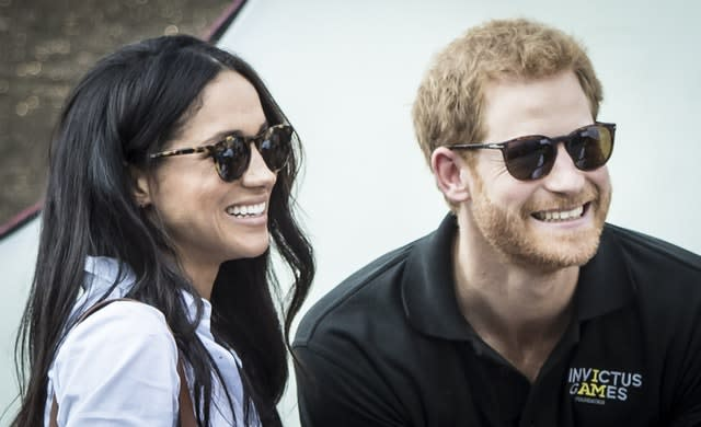Meghan and Harry in 2017