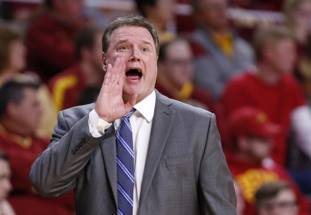 <p><strong>57. Kansas</strong><br>Top 2017-18 sport: men's basketball. Trajectory: Steady. They love their basketball in Lawrence, and that's a good thing. Because nothing else is elite nationally. The search is on to replace forgettable athletic director Sheahon Zenger, who was fired in May. </p>