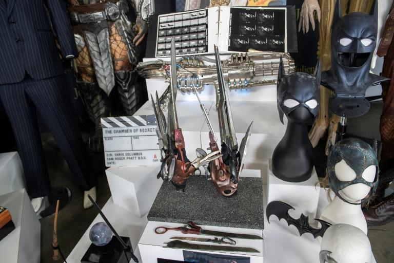 """Johnny Depp's props from """"Edward Scissorhands"""" are displayed at the auction preview in Beverly Hills, California, March 10, 2021"""