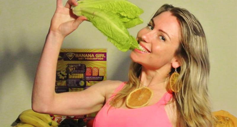 Leanne Ratcliffe, aka Freelee The Banana Girl, is pictured.