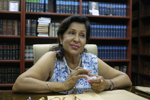 Gurmit Kaur, wife of the late Karpal Singh speaks to Malay Mail Online during an interview in Kuala Lumpur. ― Pictures by Yusof Mat Isa