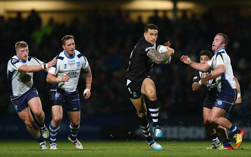 Sonny Bill Williams competed for New Zealand at the 2015 Rugby League World Cup before switching codes - Getty Images Sport