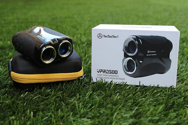 "<p>This rangefinder calculates distances of up to 540 yards to within a yard, has 6x magnification with ultra-clear optics, and comes with a hard-shell carrying case, battery, and strap — i.e., everything you want in a rangefinder. And it costs about a third of what quality rangefinders cost just a few years ago. <a href=""https://us.tectectec.com/product/golf-rangefinder/vpro500/"" rel=""nofollow noopener"" target=""_blank"" data-ylk=""slk:$135"" class=""link rapid-noclick-resp"">$135</a> (Gordon Donovan/Yahoo News) </p>"