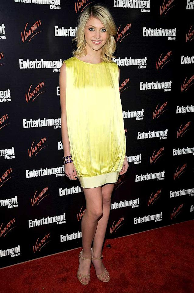 "May 2008: Well, isn't Taylor just a ray of sunshine! Too bad the bright yellow frock she donned at a NYC soiree was totally shapeless.   <a href=""http://www.seventeen.com/fashion/makeovers/kesha-fashion-pics?link=rel&dom=yah_omg&src=syn&con=art&mag=svn"" target=""new"">See Ke$ha's Wild Makeover</a> Dimitrios Kambouris/<a href=""http://www.wireimage.com"" target=""new"">WireImage.com</a> - May 13, 2008"
