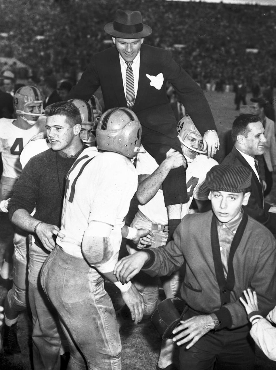 Notre Dame player and coach Terry Brennan, football, 1928-2021